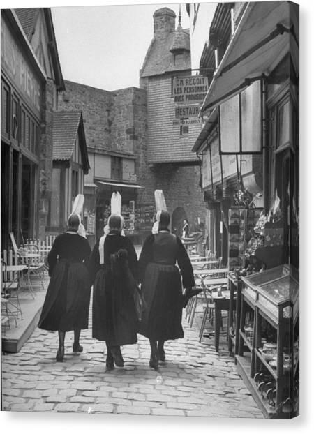 Women Walking Down Rue De La Paix.  Pho Canvas Print