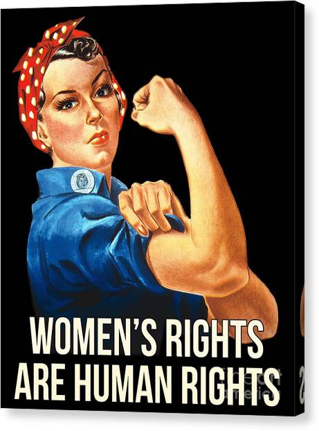 Womens Rights Are Human Rights Tshirt Canvas Print