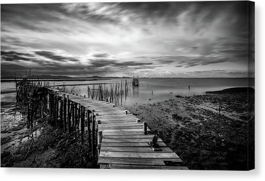Wooden Fishing Piers Canvas Print