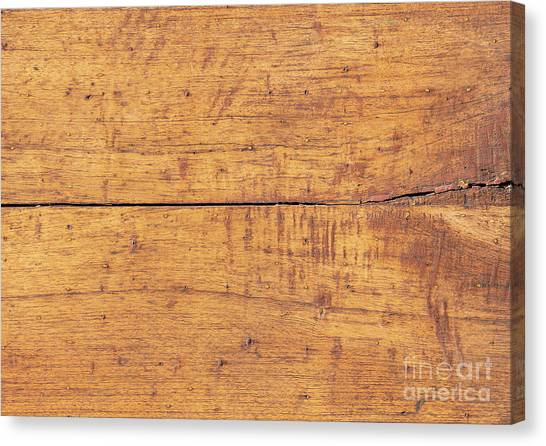 Canvas Print featuring the photograph Wooden Table Background by Tim Hester
