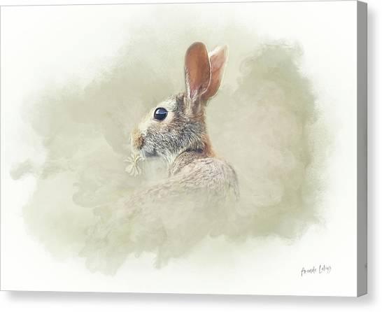 Woodland Canvas Print - Woodland Hare by Amanda Lakey