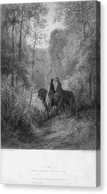 Woodland Lovers Canvas Print by Hulton Archive