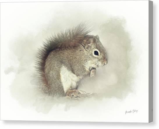 Woodland Canvas Print - Woodland Squirrel by Amanda Lakey