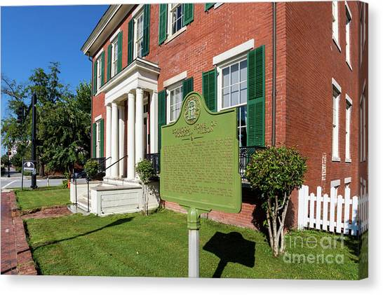 Woodrow Wilson Boyhood Home - Augusta Ga 1 Canvas Print