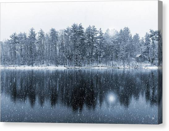 Woodstock Snowstorm Canvas Print