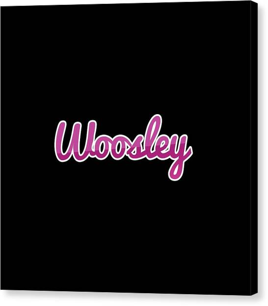 Canvas Print - Woosley #woosley by Tinto Designs
