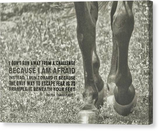 Working Trot Quote Canvas Print by JAMART Photography