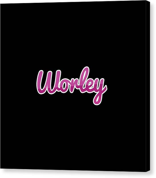 Canvas Print - Worley #worley by Tinto Designs