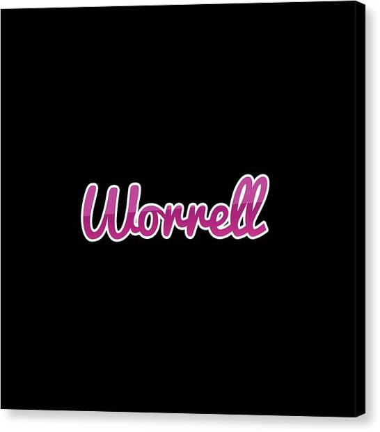 Canvas Print - Worrell #worrell by TintoDesigns
