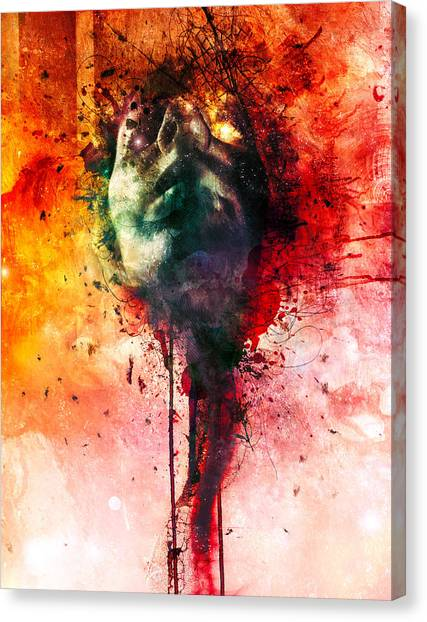 Brains Canvas Print - W.o.u.n.d.s by Mario Sanchez Nevado
