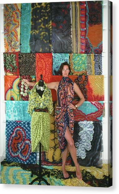 Wrap Dresses Canvas Print by Slim Aarons