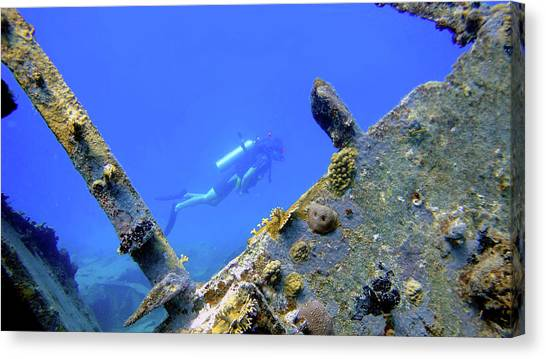 Wreck Framed Canvas Print