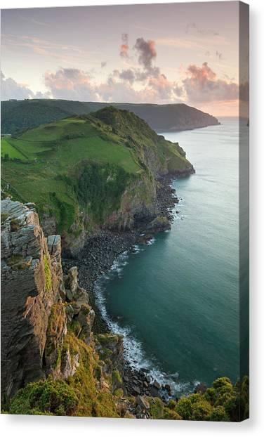 Cliff Burton Canvas Print - Wringcliff Bay, Duty Point And Highveer by Adam Burton / Robertharding