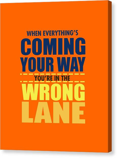 Wrong Lane Canvas Print