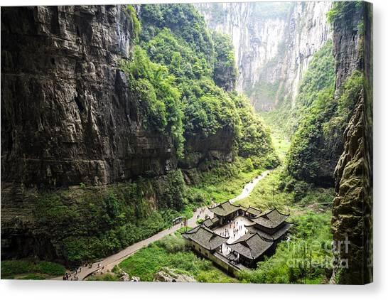 China Canvas Print - Wulong National Park, Chongqing, China by Whyframe
