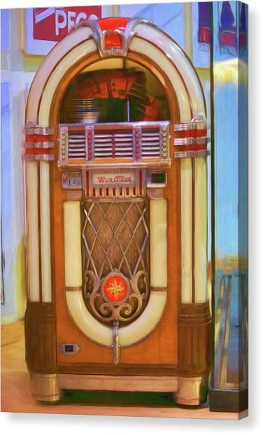 Jukebox Canvas Print - Wurlitzer - Jukebox by Nikolyn McDonald