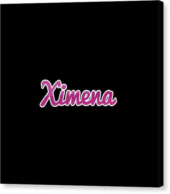 Canvas Print - Ximena #ximena by TintoDesigns