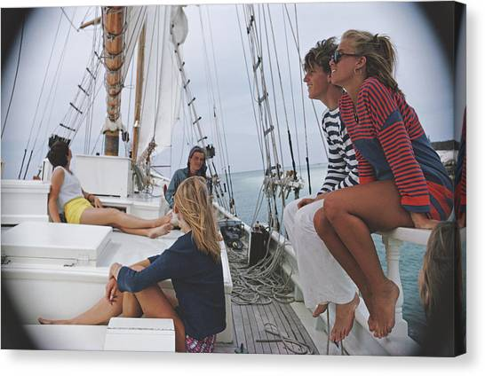 Yachting In Lyford Cay Canvas Print