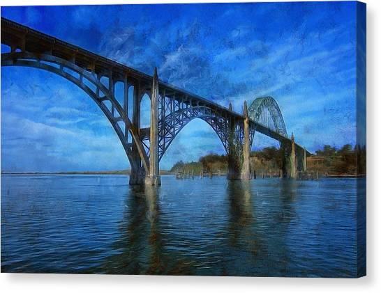 Yaquina Bay Bridge From South Beach Canvas Print