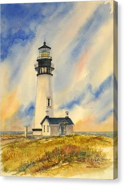 Yaquina Head - Late Afternoon Sunlight Canvas Print