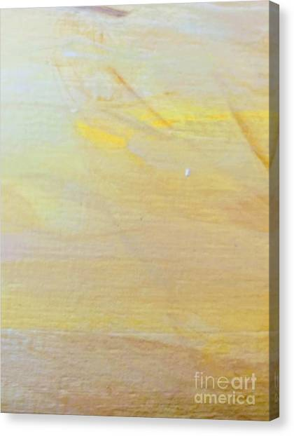 Canvas Print featuring the painting Yellow #2 by Maria Langgle