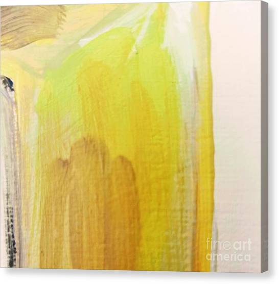 Canvas Print featuring the painting Yellow #3 by Maria Langgle