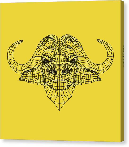 Lynx Canvas Print - Yellow Buffalo by Naxart Studio