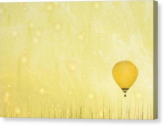 Ljubljana Canvas Print - Yellow Hot Air Balloon by Susan.k.