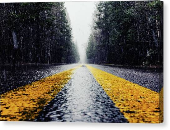 Yellow Lines Canvas Print
