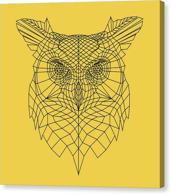 Lynx Canvas Print - Yellow Owl by Naxart Studio