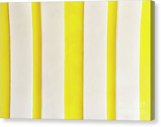 Canvas Print featuring the photograph Yellow Stripes Background by Tim Hester