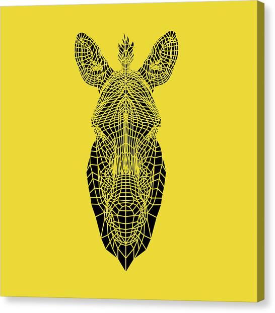 Lynx Canvas Print - Yellow Zebra by Naxart Studio