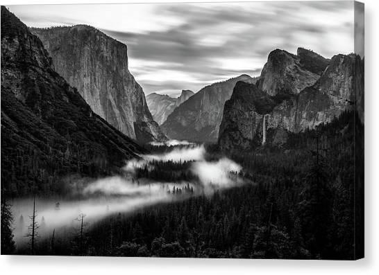 Yosemite Fog 1 Canvas Print