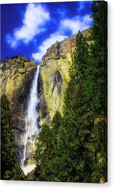 Treeline Canvas Print - Yosemite Valley Fall In The Clouds by Garry Gay