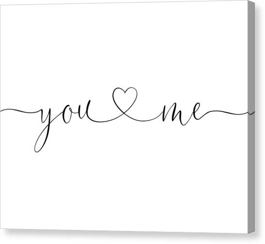 You And Me Black And White Canvas Print