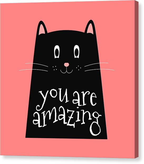 You Are Amazing - Baby Room Nursery Art Poster Print Canvas Print