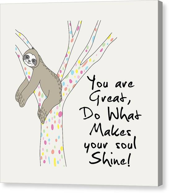 You Are Great Do What Makes Your Soul Shine - Baby Room Nursery Art Poster Print Canvas Print