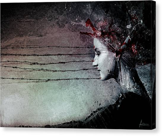 Waiting Girl Canvas Print - You Promised Me A Symphony by Mario Sanchez Nevado
