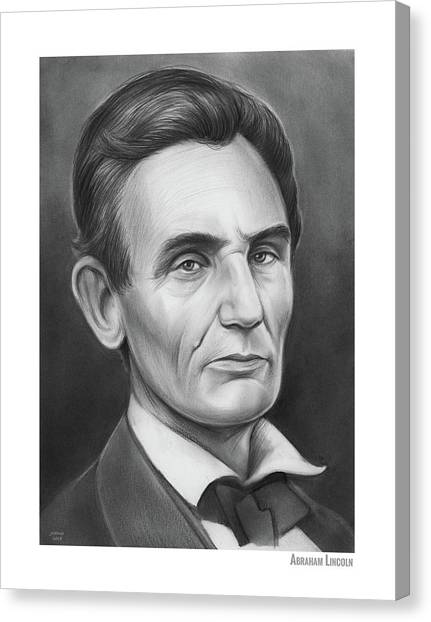Abraham Lincoln Canvas Print - Young Lincoln Lawyer by Greg Joens