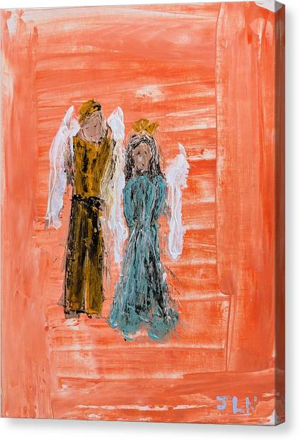 Young Love Angels Canvas Print