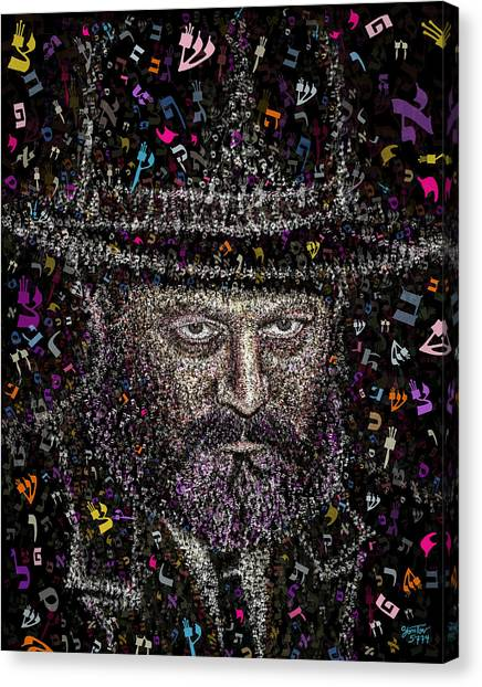 Young Lubavicher Rebbe Canvas Print