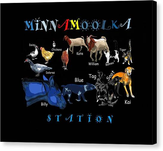Canvas Print - Your Friends At Minnamoolka Station by Joan Stratton