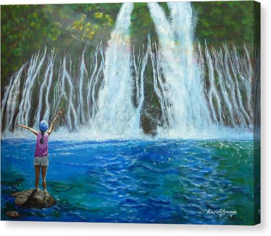 Canvas Print featuring the painting Youthful Spirit by Amelie Simmons