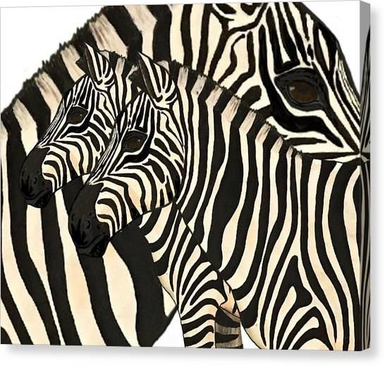 Canvas Print - Z Is For Zebras by Joan Stratton