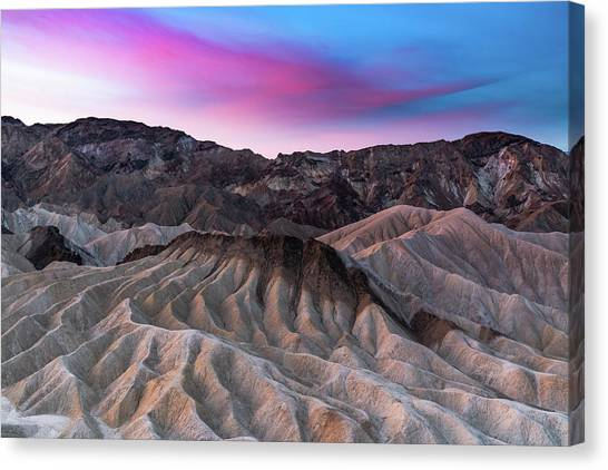 Zabriskie Sunrise Canvas Print