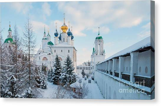 Church Canvas Print - Zachatievsky Cathedral Of by Dance60