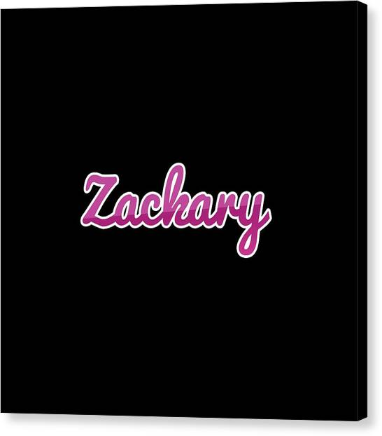 Canvas Print - Zackary #zackary by TintoDesigns
