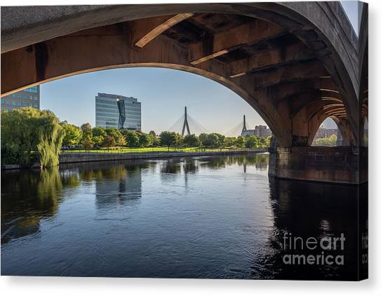 Zakim From The Charles Canvas Print