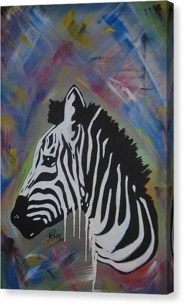 Zebra Drip Canvas Print