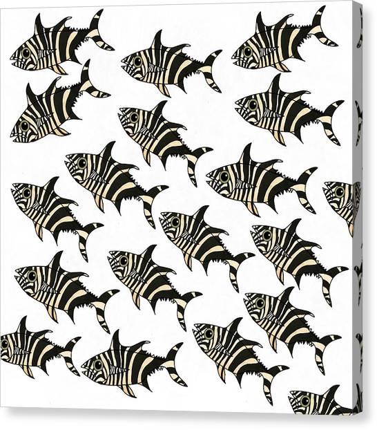 Zebra Fish 7 Canvas Print